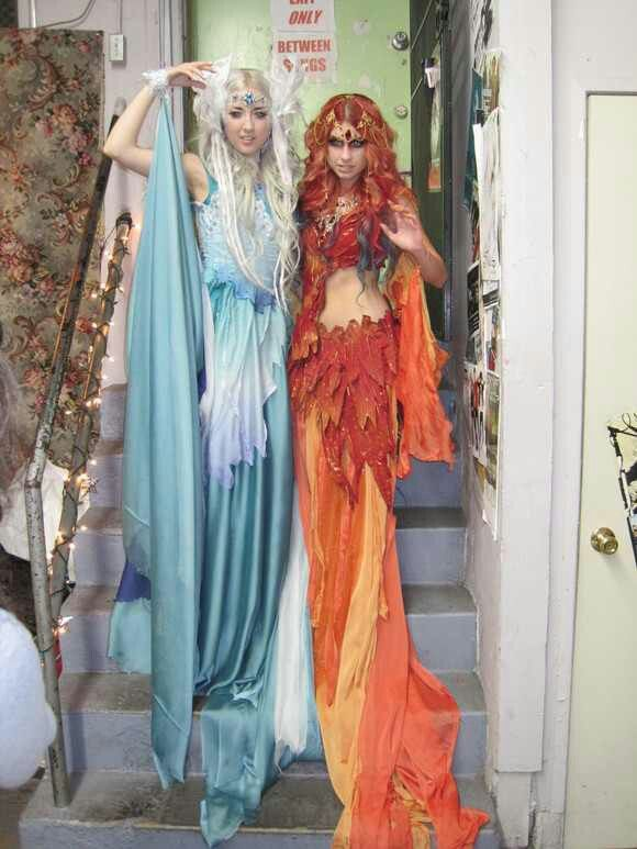 ice and fire goddess - Halloween Costume Fire