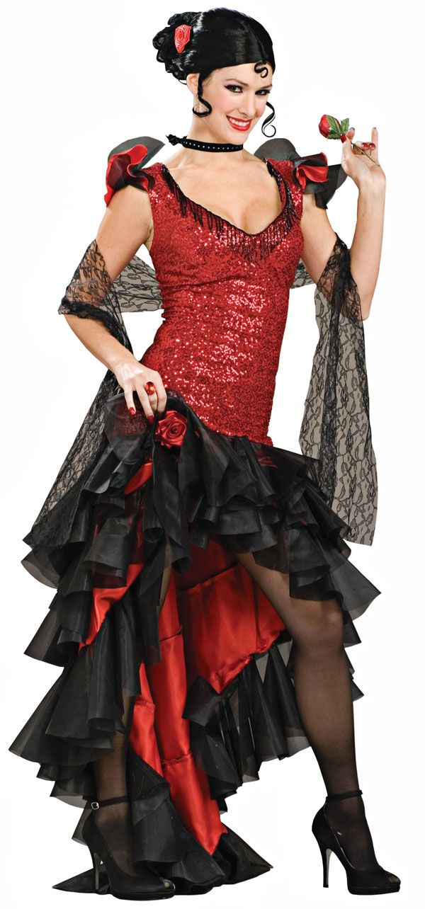 Adult XL Spanish Dancer Costume - Mexican or Spanish Costumes