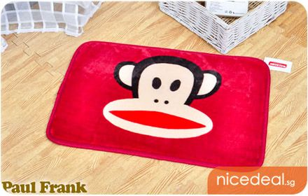 $5.90 Paul Frank Design One-Color Monkey Anti-Slip Adorable Floor Mat (Choice of Red, Blue, Pink or Orange); Cute! Trendy! Machine Washable!...