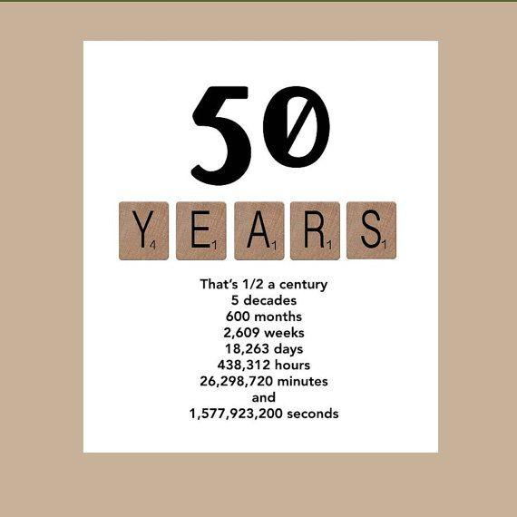 50th Birthday Card Milestone Birthday Card by DaizyBlueDesigns, $4.00