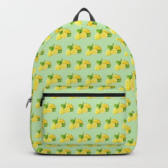 Lemons Backpacks by LaskaArt | Society6