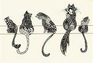Zentangle Cats - Bing Images