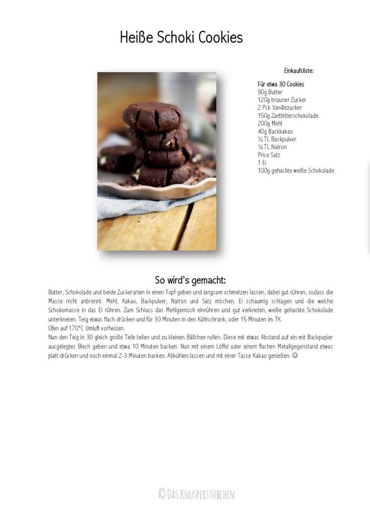 Heisse Schoki Cookies - Hot chocolate Cookies