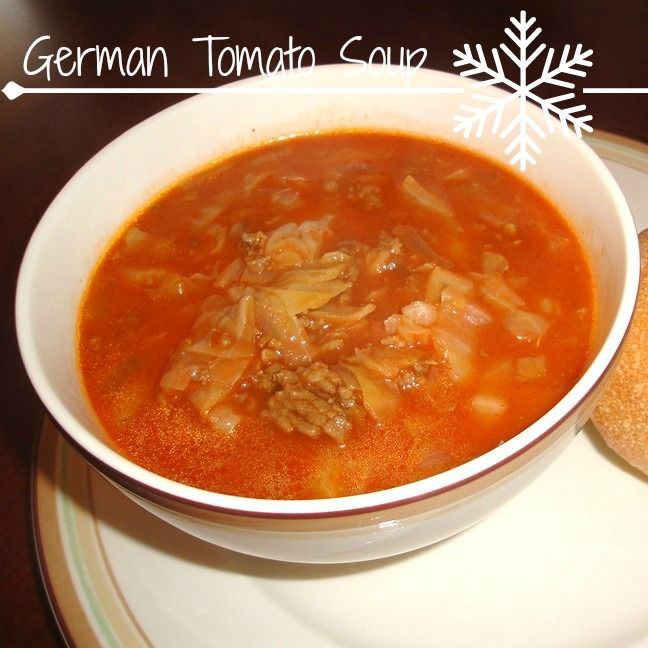 The Villager's German Tomato Soup - My moms favorite soup recipe » Recipes, Food and Cooking