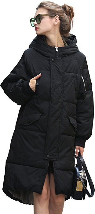 acd59bbfbe069 Winter Jacket Coat Women Anorak Long Black Puffer Down Coat Thick Snow  Waterproof Coat Bubble Quilted Cute Coat Warm Over Casual…