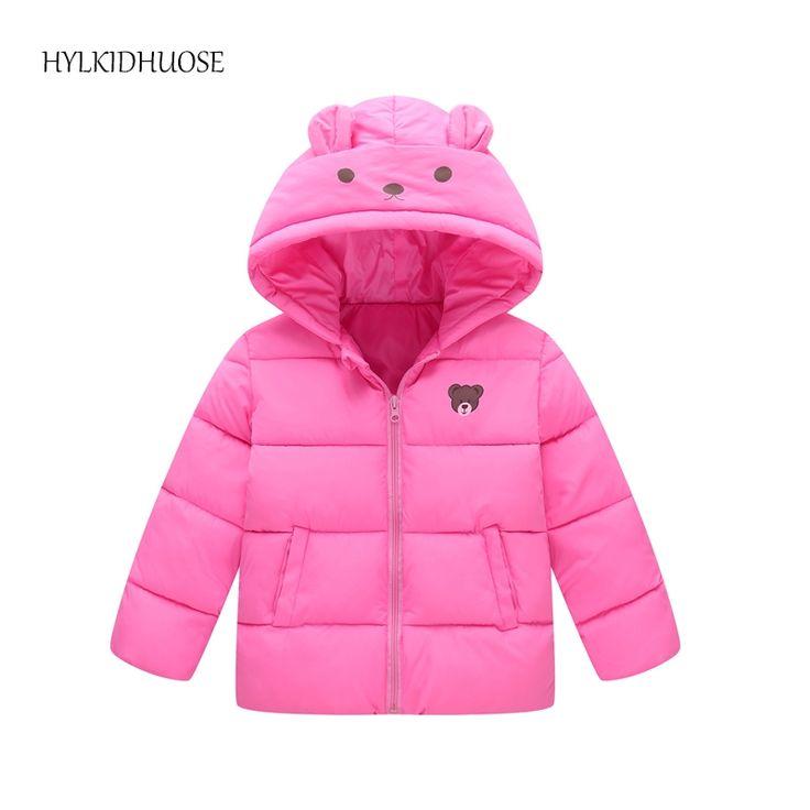 13.90$  Watch here - http://aliqm0.shopchina.info/1/go.php?t=32817306875 - HYLKIDHUOSE 2017 Baby Girls Boys Winter Coats Hooded Warm Children Cartoon Bear Jacket Kids Infant Parkas Student Outerwear  #buyonline