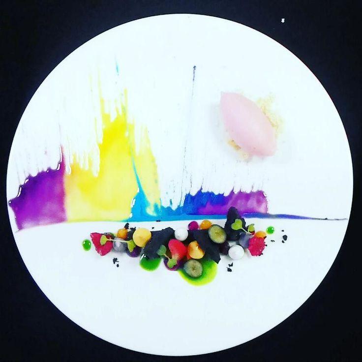 Tropical Coulis | White Peach Campari | Yoghurt Meringue Crumbs #r #finedining #expertfoods #desserts #dessertporn #dessertmasters #chef #chefsofinstagram #chefstalk #food #foodie #foodporn #foodgasm #foodpics #gastroart #dontshootthechef #gourmetartistry #theartofplating #passion #art #tropicalfruit #indonesianfood #jakartafoodies #luxury #lunch #dinner #eakusumah #instagramfood #instagood #jakartapacificplace by pptjkt