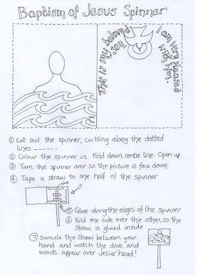 Matthew 3:13-17; Mark 1:1-11; Luke 3:21-22: John 1:19-34: Jesus Was Baptized; Baptism of Jesus Spinner