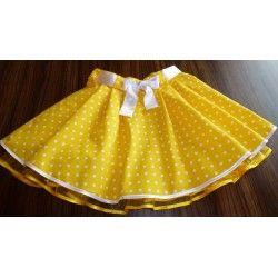 Sukýnka dětská, žlutá s puntíky