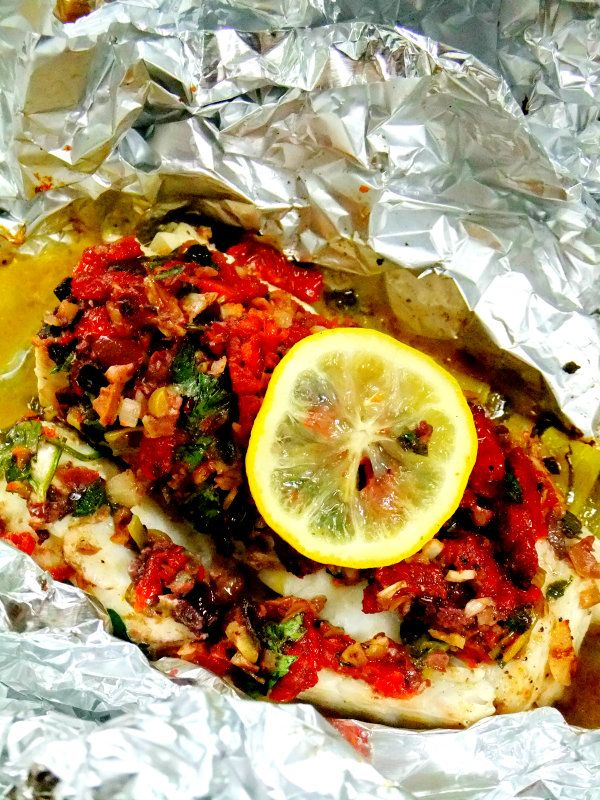 Olive Crusted Cod in Foil | Recipe | Olives, Foil Packets and Italian