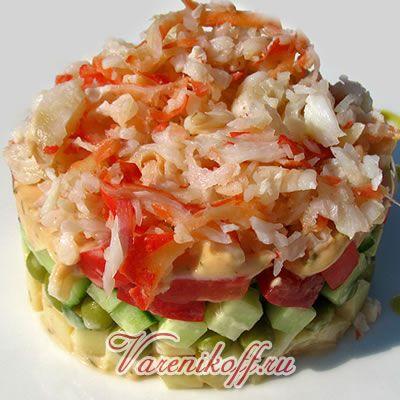 Крабовый салат из мяса крабов