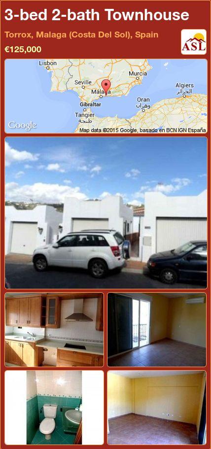 3-bed 2-bath Townhouse in Torrox, Malaga (Costa Del Sol), Spain ►€125,000 #PropertyForSaleInSpain