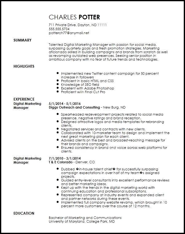 Weekly Social Media Report Template New Social Media Editor Cover Letter Awesome Social M In 2020 Sample Resume Format Downloadable Resume Template Job Resume Template