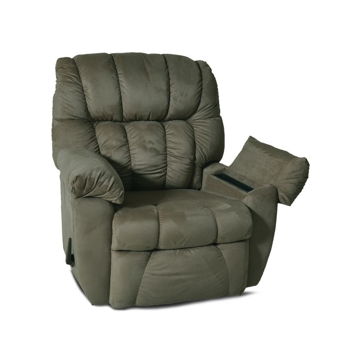 "RC Willey - 39"" Fern Microfiber Rocker Recliner with Massage"