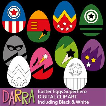 A cool collection of Easter Eggs clip art in superhero style! There 8 designs in fun bright colors! Black and white version is also included! Great for pre-k, K, and elementary students activities, games, and worksheet projects!It will be fun to use this collection for any school and classroom projects such as for creating bulletin boards, study materials, learning worksheet, activities and games, and for more educational and fun creative projects!Format File: PNG (300dpi)Small business…