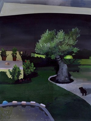 Siobhan McBride - Yard, 2011 - Gouache on Paper on Panel - 16 x 12 in