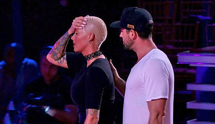 Amber Rose and Maks on DWTS.