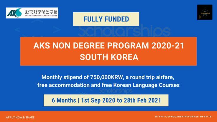 Fully Funded - AKS Non-Degree Program 2020 in South Korea ...