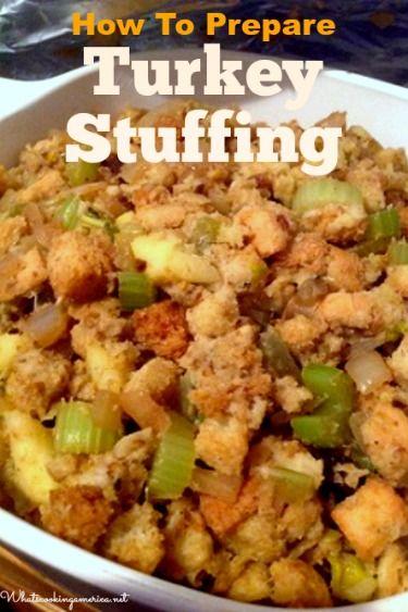 How To Prepare Turkey Stuffing Recipe     whatscookingamerica.net     #turkey #stuffing #dressing #thanksgiving