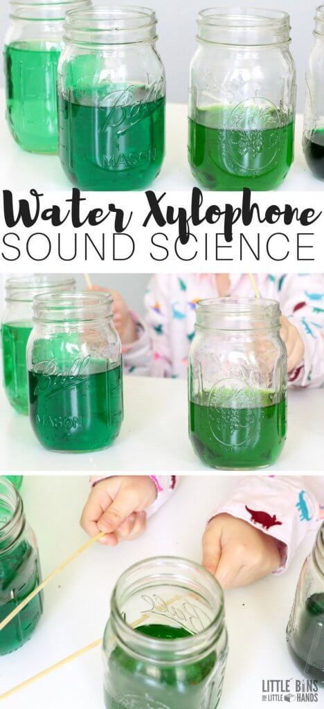 Homemade Water Xylophone Sound Science Experiment for Kids