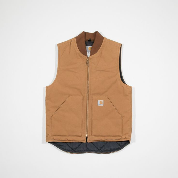 ✦ CLICK TO BUY ✦ CARHARTT - Beige Cotton vest - Smanicato in cotone - Millesimè Vintage clothing & accessories