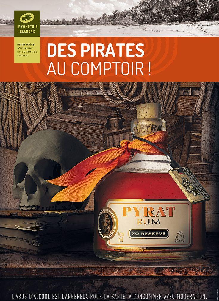 A l'abordage ! En avril, Le Comptoir Irlandais vous embarque dans l'univers des pirates avec une sélection de rhum incroyable. >> http://www.comptoir-irlandais.com