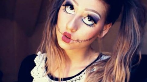 Watch How She Applies This Makeup To Be A Real Live Doll For Halloween (Brilliant!) | DIY Joy Projects and Crafts Ideas