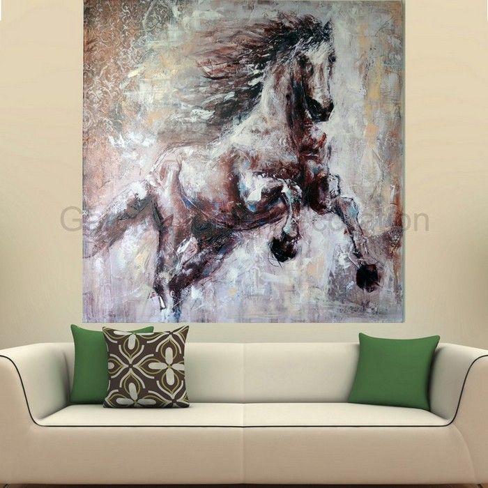 peint la main abstrait animal d coration peinture l 39 huile sur toile cheval art mural pour. Black Bedroom Furniture Sets. Home Design Ideas