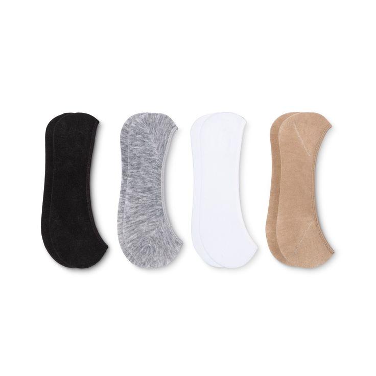 Peds Women's Liner Sock Assorted 4 pk - Gray/White/Black/Nude 5-10