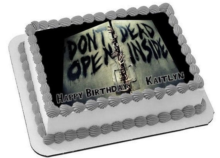 Walking Dead 2 Personalized Happy Birthday Edible Cake Image Topper