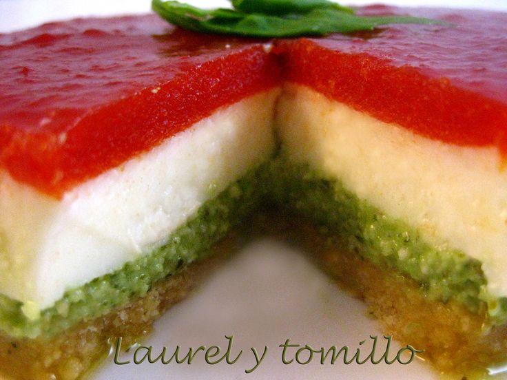 Pastel de queso de cabra. http://laurelytomillo.blogspot.com.es/2013/01/pastel-de-queso-de-cabra.html