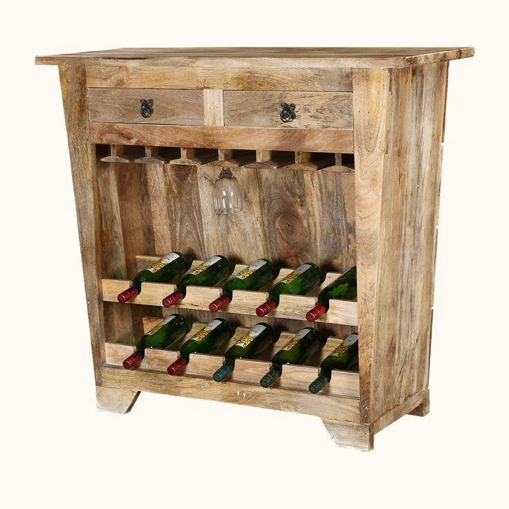 Modern farmhouse mango wood rustic wine bar wood