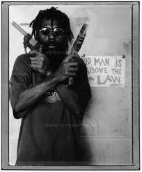 """Photoville Brooklyn - Austrailian Photographer Stephen Dupont's Photo series """"Raskols"""" depicting gangsters in Port Moresby, Papau new Guinea. The city has been repeatedly rated by The Economist as the worst city in the world to live in."""