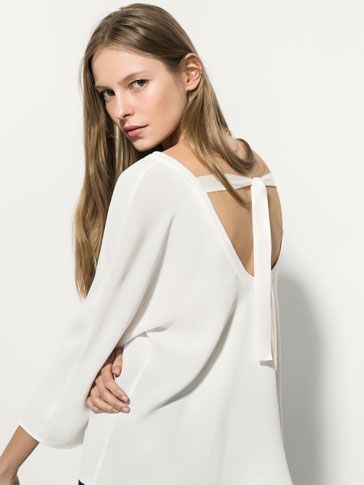 TOP WITH BOW AT BACK - New arrivals - WOMEN