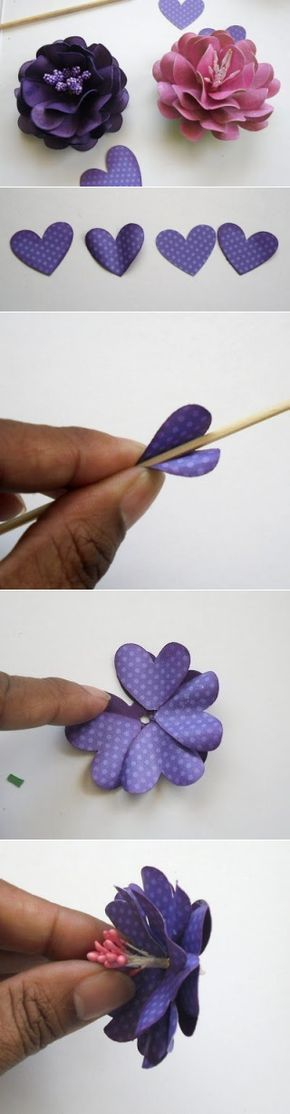 MK Paper flowers of hearts