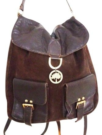 Ships Next Day Brown Suede Leather Backpack in 2018  fce1036ec1d06