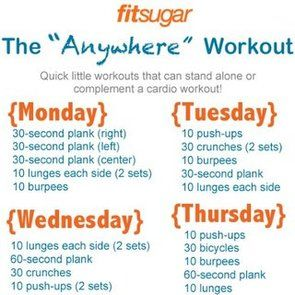 Workout Poster For the Week: Workout Exerci, Work Outs, Daily Workout, Weekworkout, Workout Plans, No Excuses, Minis Workout, Week Workout, Quick Workout