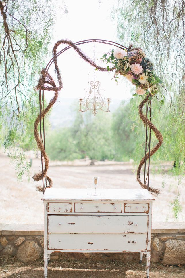 Inexpensive Rustic Wedding Arch For I do Pinterest