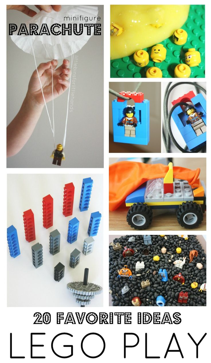 Cool LEGO building ideas and LEGO STEM challenges for LEGO week! Fun ways to build with LEGO for preschool, kindergarten, and grade school age kids.