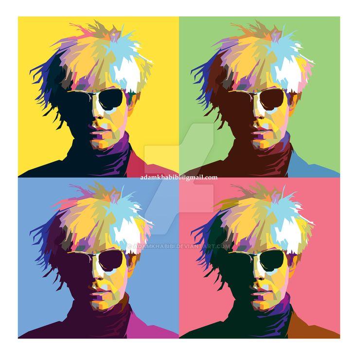 Andy Warhol in Wedha's Pop Art Portrait (WPAP) by AdamKhabibi