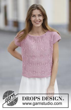 Топ спицами с рукавом реглан и ажурными ромбами на knitweek.ru