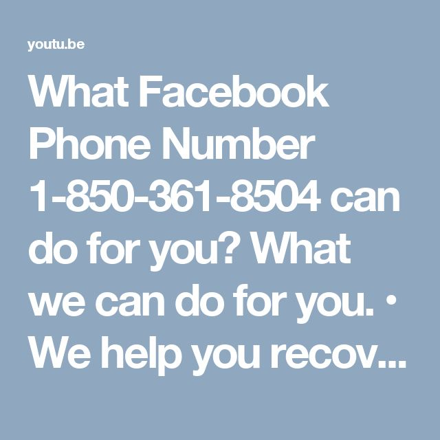 What Facebook Phone Number 1-850-361-8504 can do for you? What we can do for you. • We help you recover your hacked account password. • We make your password hack-proof. • We help you tighten up your privacy settings. Call Facebook Phone Number 1-850-361-8504 and let us serve you. For more information visit:  http://www.monktech.net/facebook-customer-support-phone-number.html