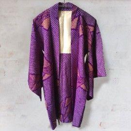 Kimono in purple shibori from itoko.dk