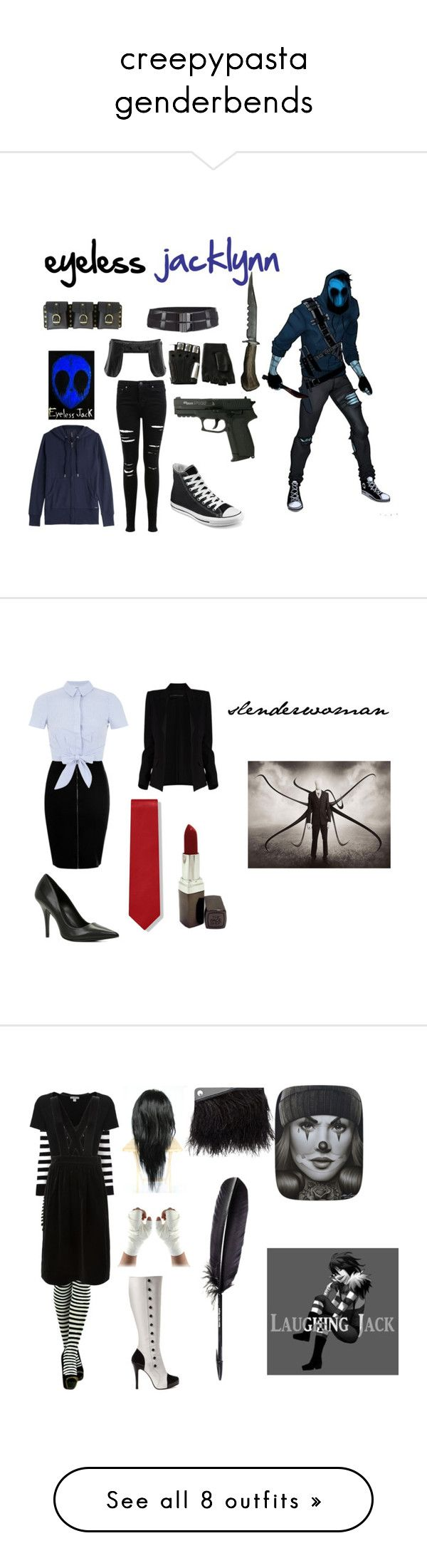 creepypasta genderbends by piercethe-arctic-disco on Polyvore featuring Miss Selfridge, Opening Ceremony, Converse, Majesty Black, Woolrich, Alexandre Vauthier, ALDO, The Face Shop, ToBeInStyle and Yves Saint Laurent