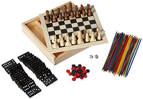 5in1 Mini Wood Chess Game -- Details can be found by clicking on the image.Note:It is affiliate link to Amazon.