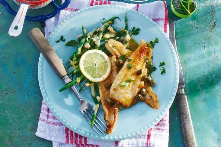Het botersausje en de haricots verts zorgen voor een frisse tegenhanger - Recept - Allerhande