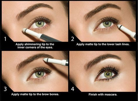 Highlight the Eyes:  When you're tired it shows up in your eyes. And as you get older, it shows up more and more. If you use a product like Eye Beam from Smashbox, you can highlight the inner corners of your eye and the brow bone. It's an instant brightener that makes you look younger and more alert.