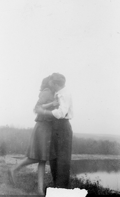 1948: this could be my parents...I was born in 1949 and we all know it starts with a kiss