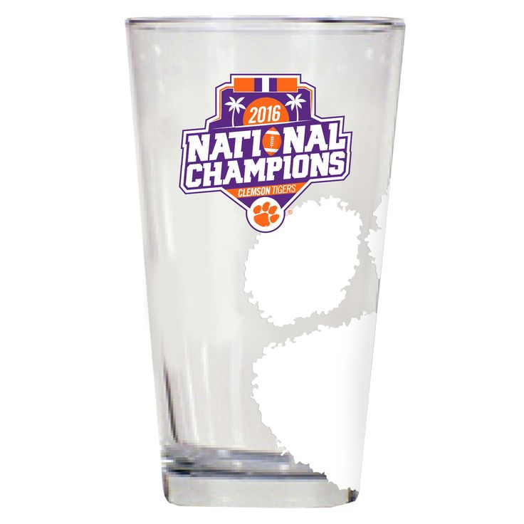 Clemson Tigers College Football Playoff 2016 National Champions 17oz. Etched Pint Glass