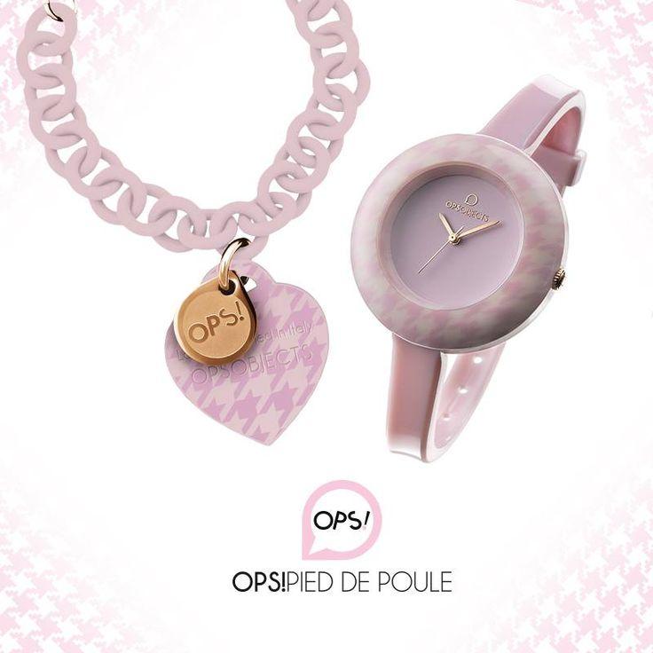 OPS PIED DE POULE bracciale 36euro / orologio 44euro